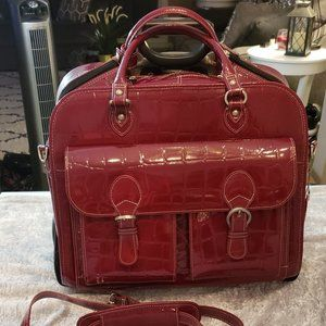 Siamod Red Rolling Laptop Case